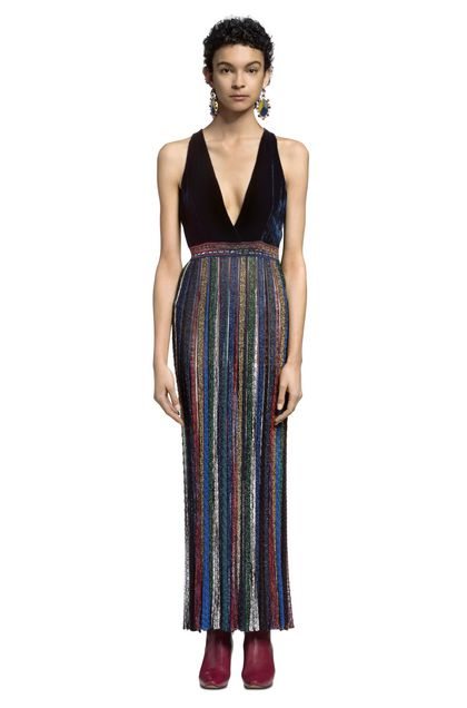 MISSONI Long dress Dark blue Woman - Front
