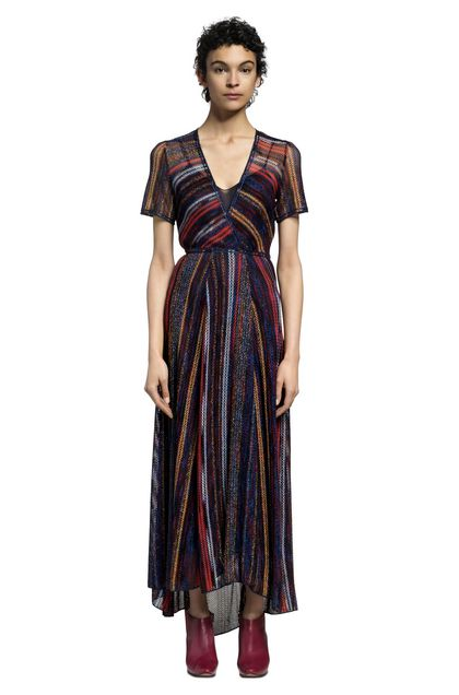 MISSONI Langes Kleid Blau Damen - Vorderseite