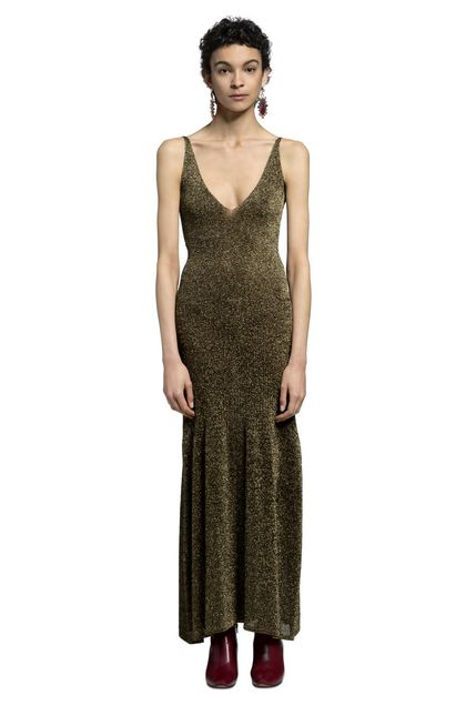 MISSONI Long dress Gold Woman - Front