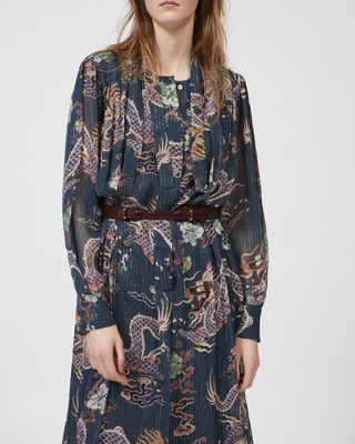ISABEL MARANT LONG DRESS Woman DALIKA metallic printed dress r