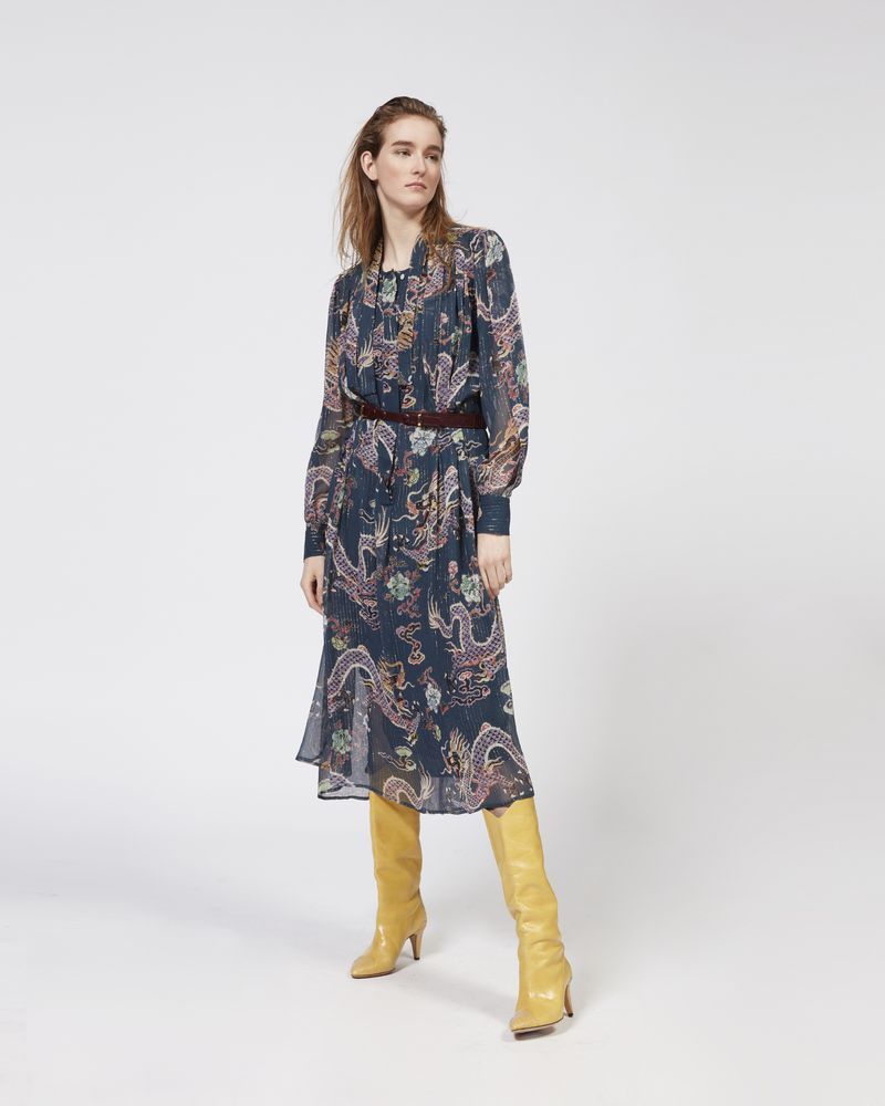 DALIKA metallic printed dress ISABEL MARANT