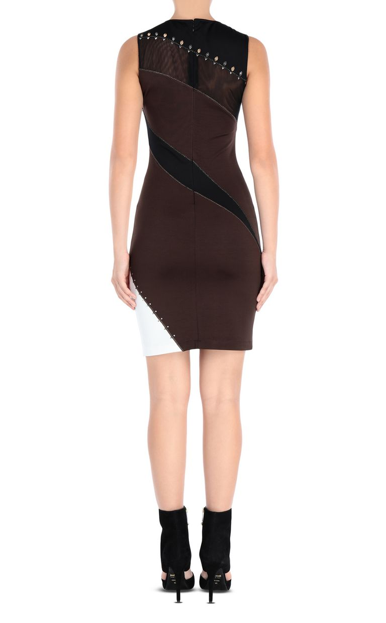 JUST CAVALLI Compact jersey mini dress Short dress Woman d