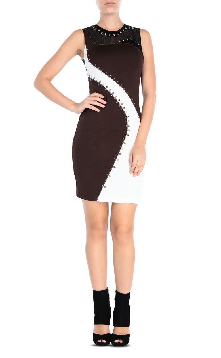 JUST CAVALLI Compact jersey mini dress Short dress Woman f