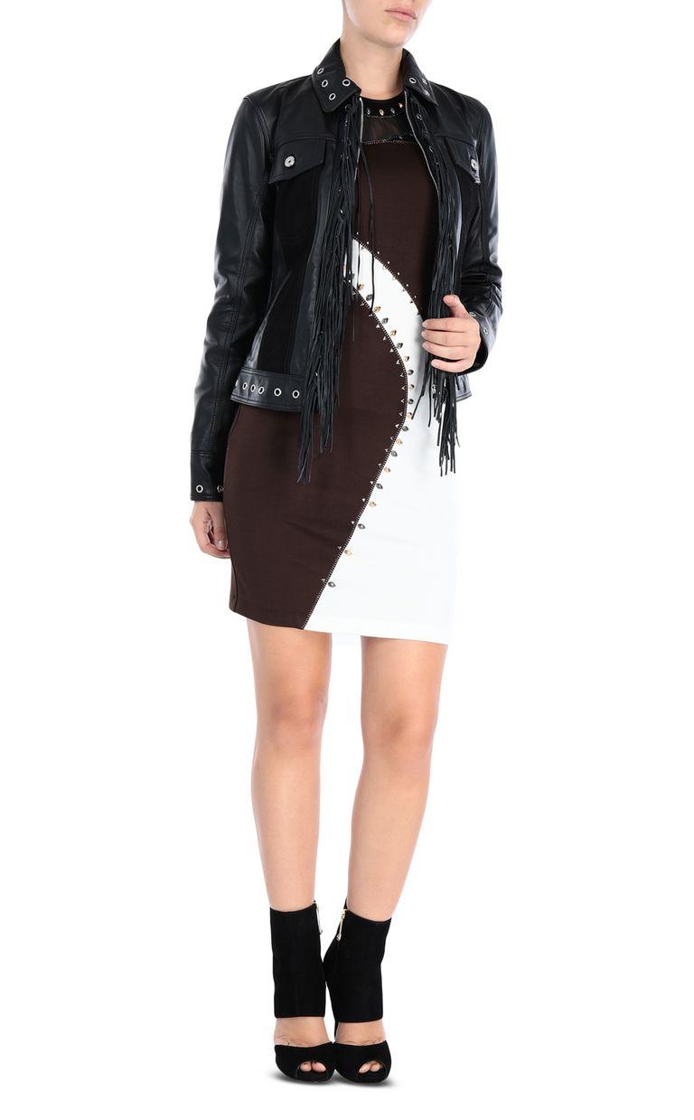 JUST CAVALLI Compact jersey mini dress Short dress Woman r