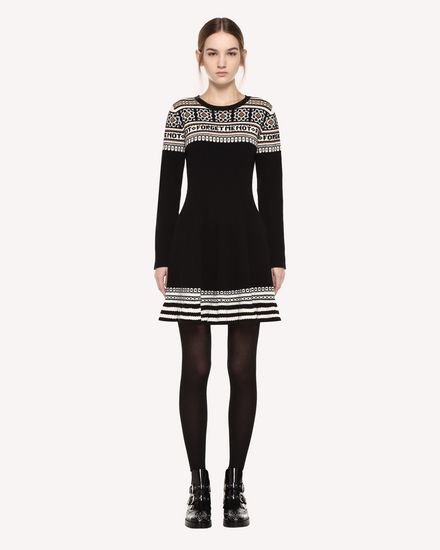 REDValentino Knit Dress Woman QR0KD06H468 0NO f