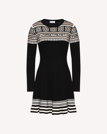 REDValentino QR0KD06H468 0NO Knit Dress Woman a