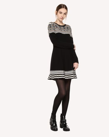 REDValentino QR0KD06H468 0NO Knit Dress Woman d