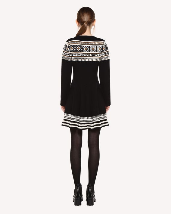 REDValentino Wool dress with geometric jacquard design