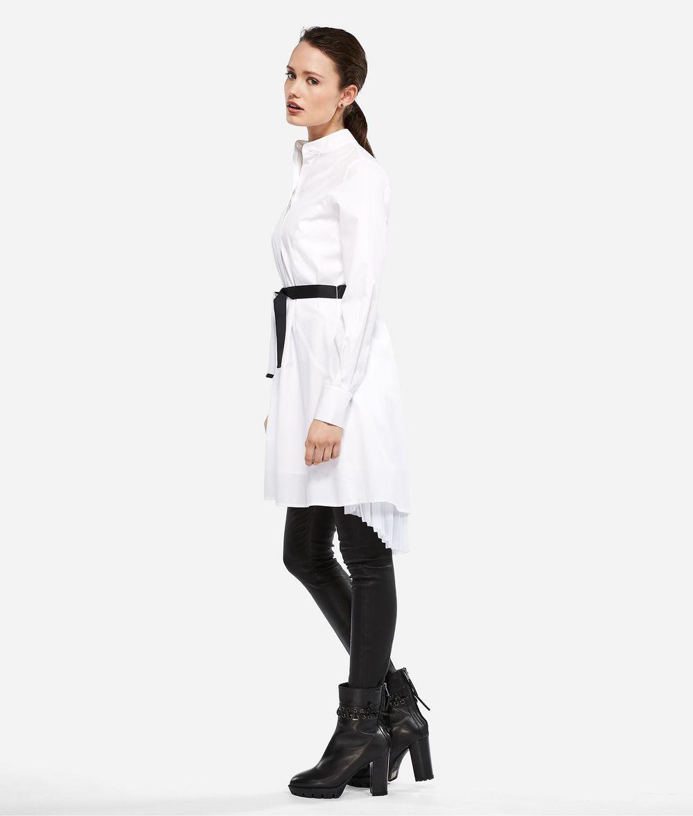KARL LAGERFELD Hemdblusenkleid mit Plisseeeinsatz Kleid Damen d