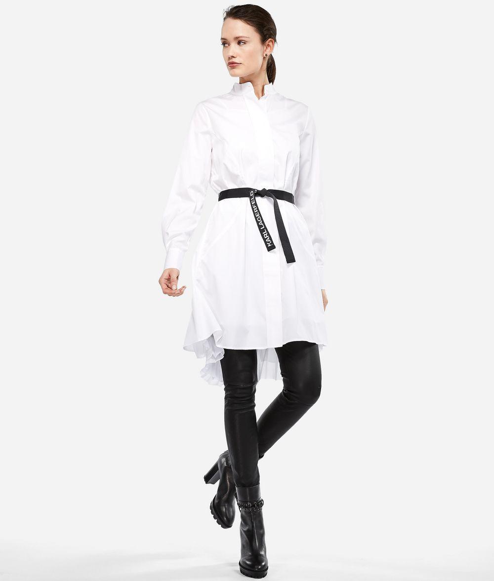KARL LAGERFELD Hemdblusenkleid mit Plisseeeinsatz Kleid Damen f