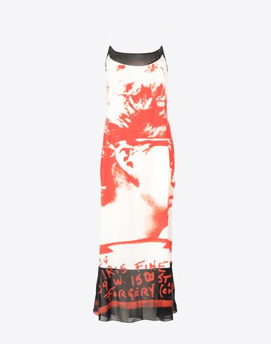 MAISON MARGIELA Long dress Woman Mugshot printed dress f