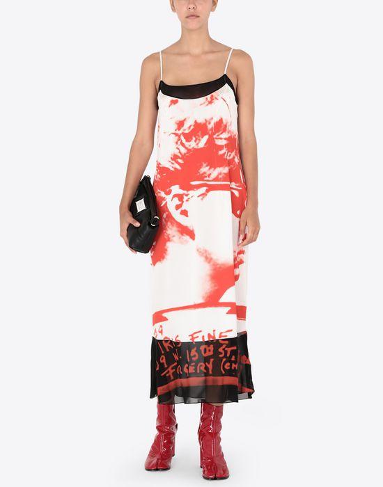 MAISON MARGIELA Mugshot printed dress Long dress [*** pickupInStoreShipping_info ***] d