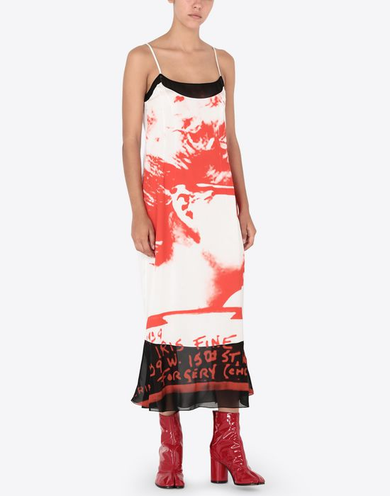 MAISON MARGIELA Mugshot printed dress Long dress [*** pickupInStoreShipping_info ***] r