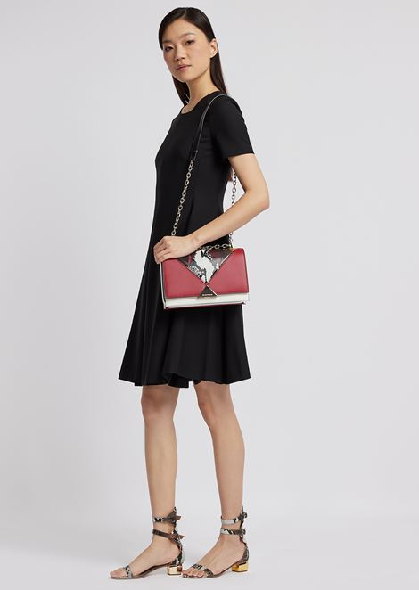 Dress with pleated skirt in fresh wool