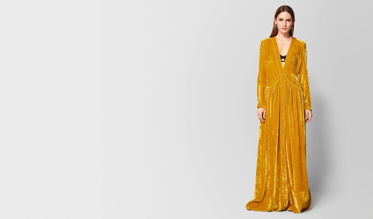 abito in viscosa e velluto marigold landing
