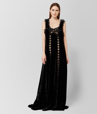 NERO VELVET LACE DRESS