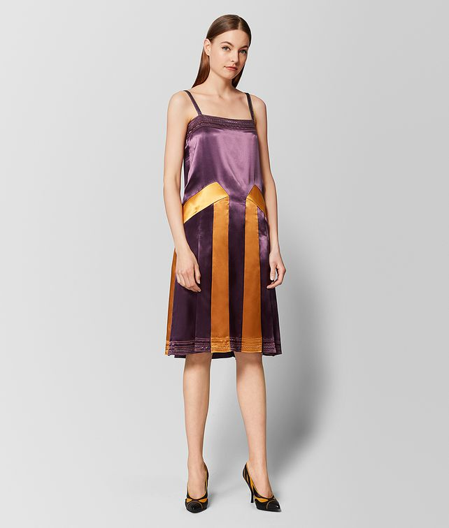 BOTTEGA VENETA MULTICOLOR SATIN DRESS Dress Woman fp