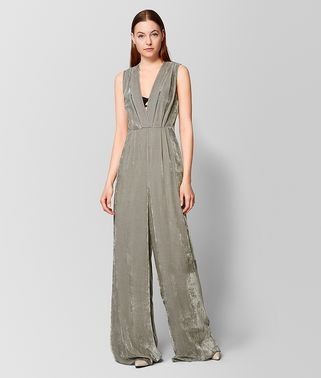 DARK CEMENT VELVET JUMPSUIT
