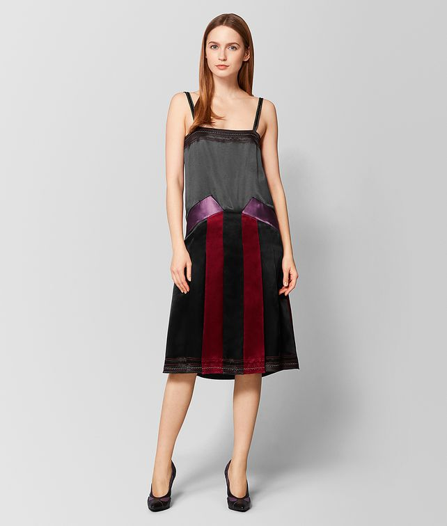 BOTTEGA VENETA MULTICOLOR SATIN DRESS Dress [*** pickupInStoreShipping_info ***] fp