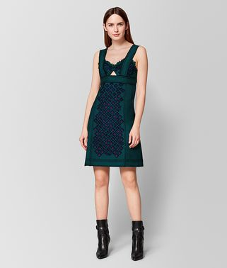 MULTICOLOR WOOL DRESS