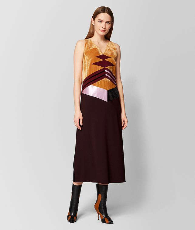 BOTTEGA VENETA MULTICOLOR VELVET/SATIN DRESS Dress [*** pickupInStoreShipping_info ***] fp