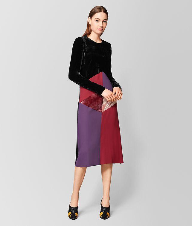 BOTTEGA VENETA MULTICOLOR VELVET/SATIN DRESS Dress Woman fp