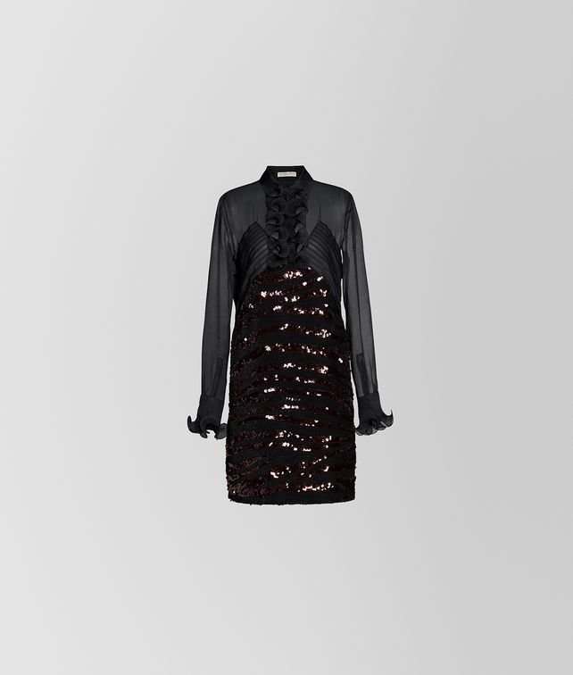 BOTTEGA VENETA NERO SILK DRESS Dress Woman fp