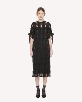 REDValentino Plaid pattern wool blend dress