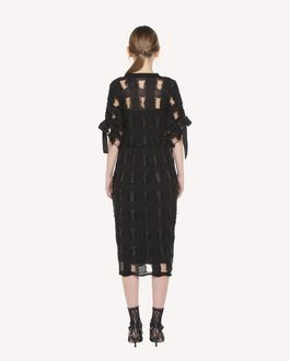 REDValentino Plaid pattern wool blend dress