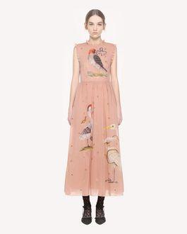 REDValentino Enchanted Birds printed silk dress