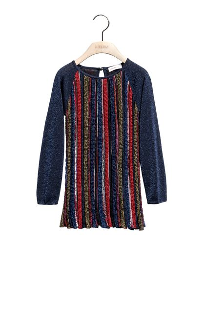 MISSONI KIDS Dress Dark blue Woman - Back