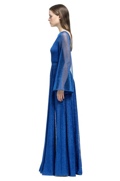 MISSONI Long dress Bright blue Woman - Front