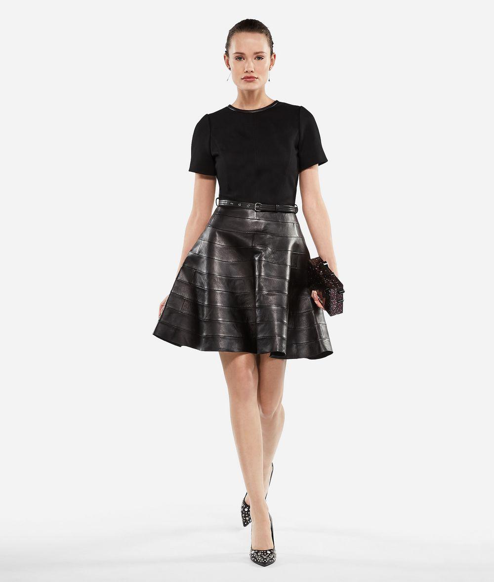 KARL LAGERFELD Leather and Punto Dress Dress Woman f