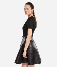KARL LAGERFELD Leather and Punto Dress 9_f