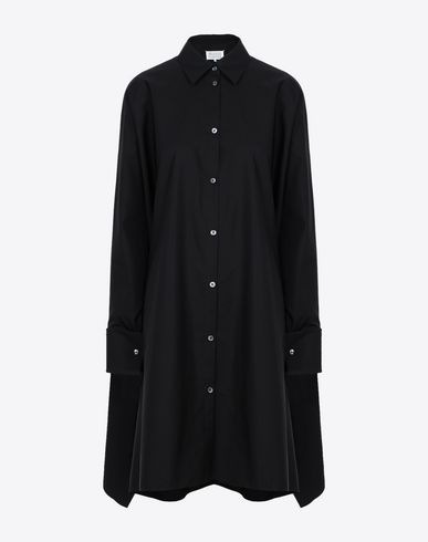 MAISON MARGIELA 3/4 length dress Woman Black poplin dress f
