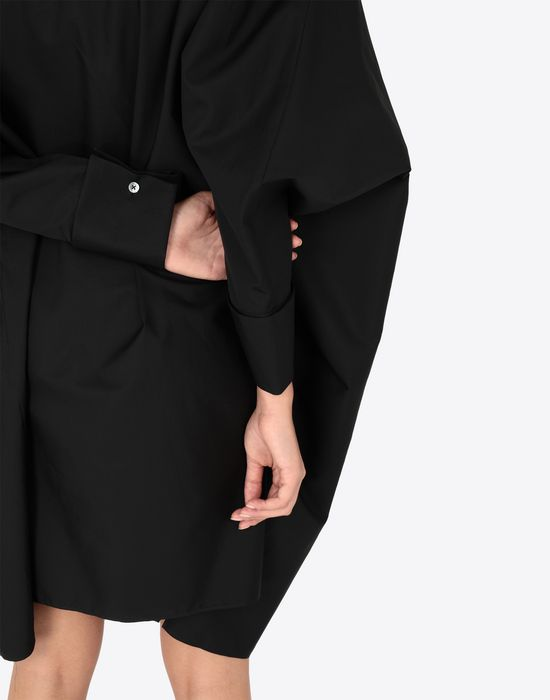 MAISON MARGIELA Black poplin dress 3/4 length dress [*** pickupInStoreShipping_info ***] b
