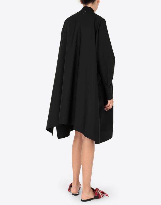 MAISON MARGIELA Black poplin dress 3/4 length dress [*** pickupInStoreShipping_info ***] e