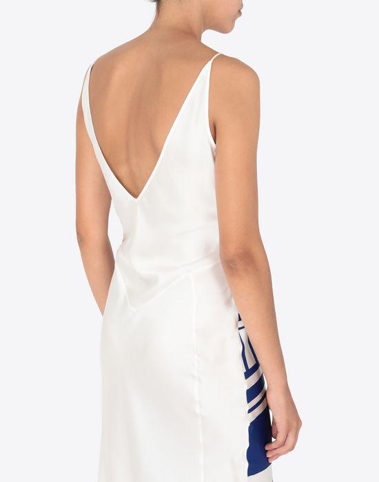 MAISON MARGIELA Silk Vitamin print dress Long dress [*** pickupInStoreShipping_info ***] b