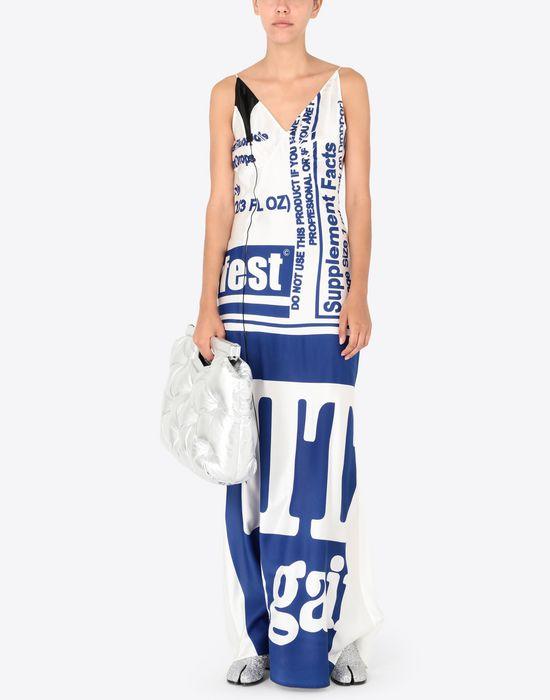 MAISON MARGIELA Silk Vitamin print dress Long dress [*** pickupInStoreShipping_info ***] d