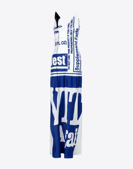 MAISON MARGIELA Silk Vitamin print dress Long dress [*** pickupInStoreShipping_info ***] f