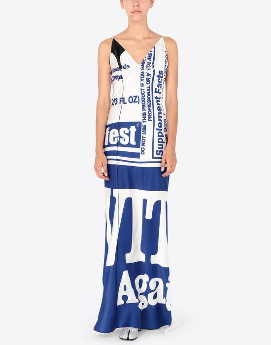 MAISON MARGIELA Silk Vitamin print dress Long dress [*** pickupInStoreShipping_info ***] r