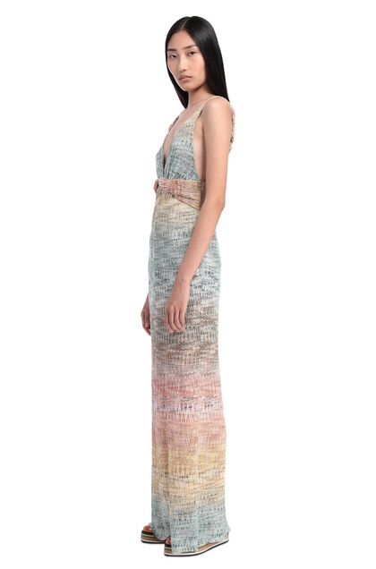 MISSONI Long dress Emerald green Woman - Front