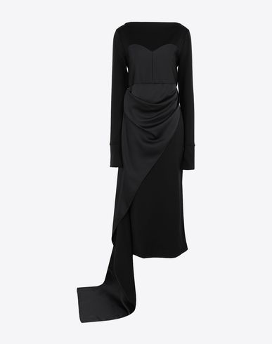 MAISON MARGIELA Long dress Woman Dress with bodice details f