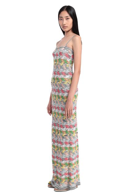 MISSONI Long dress White Woman - Back