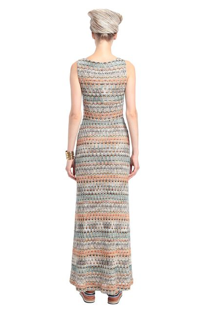 MISSONI Long dress Deep jade Woman - Front