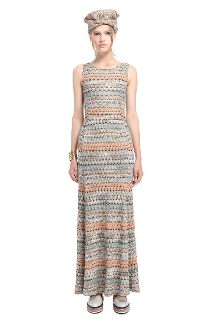 MISSONI Long dress Deep jade Woman - Back