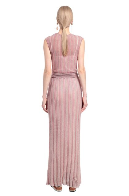 MISSONI Long dress Pink Woman - Front
