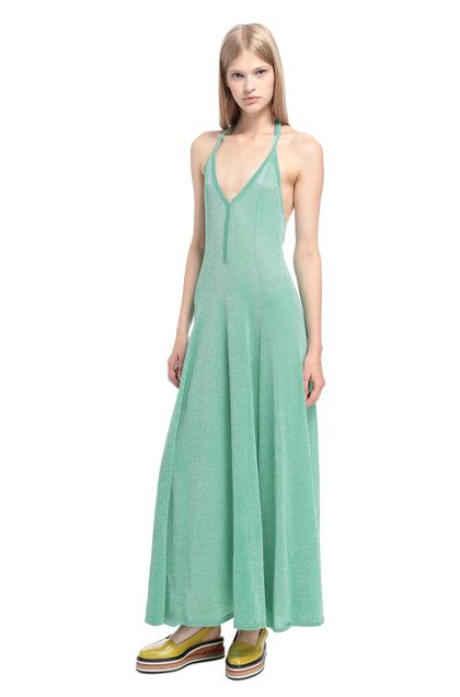 MISSONI Long dress Light green Woman - Front