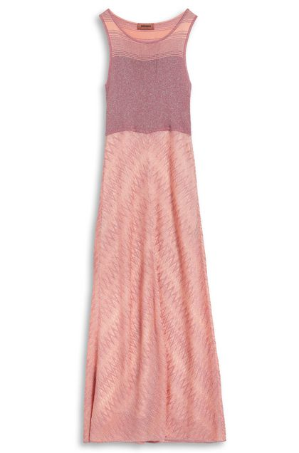 MISSONI Long dress Salmon pink Woman - Front