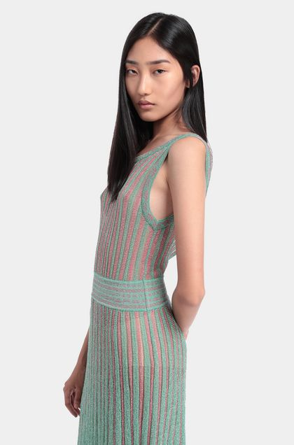 MISSONI Minidress Light green Woman - Back